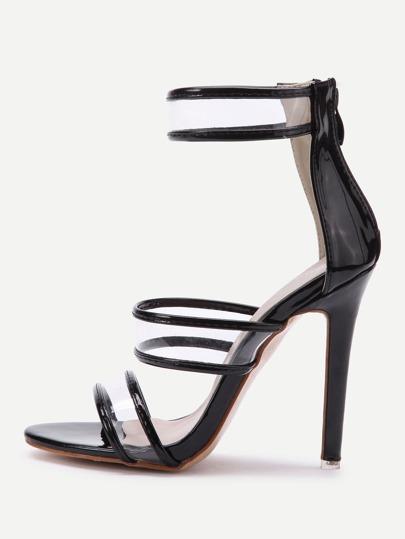 Sandales talons aiguilles avec le zip