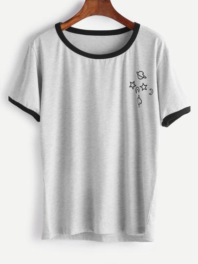 T-shirt contrasto di strisce