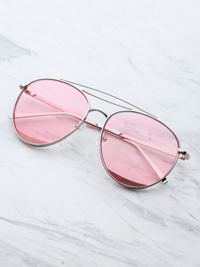 Metal Top Bar Aviator Sunglasses