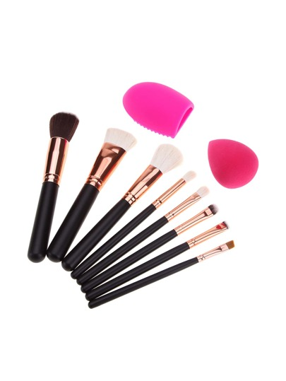 Make-up Pinsel Set 8pcs und Puff