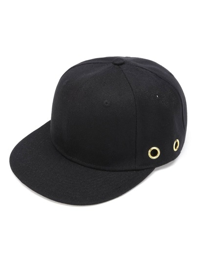 Eyelet Detail Baseball Cap