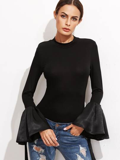 Fluted Sleeve Slim Tee