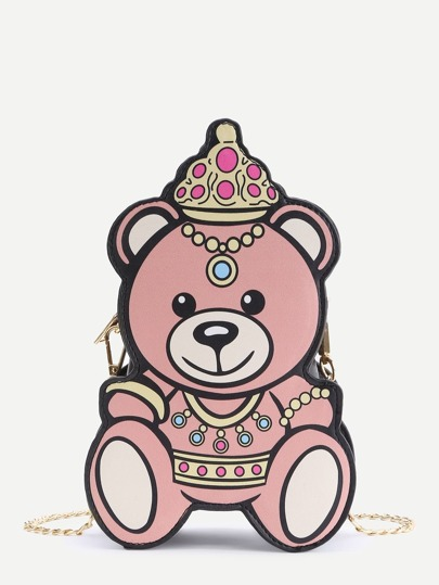 Bear Shape Chain Shoulder Bag