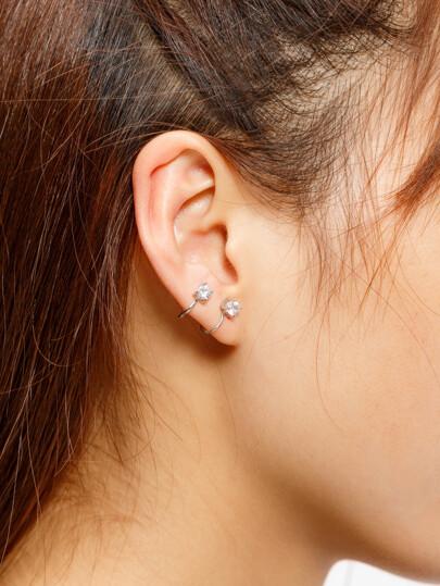 Boucle d'oreille strass 2pcs