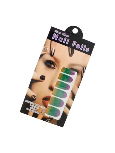 Color Block Glitter Nail Sticker
