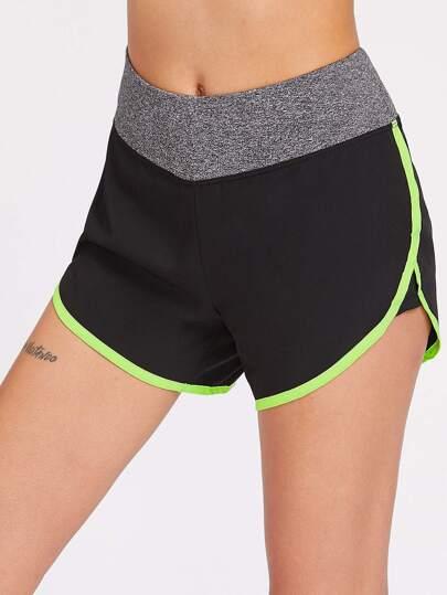 Shorts de sport bicolore