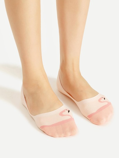 Flamingo Pattern Invisible Socks