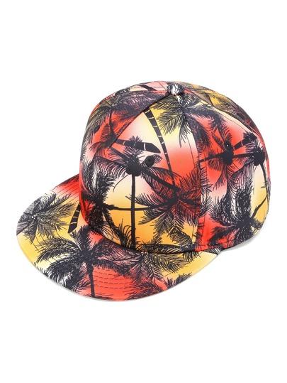 Cappellino con stampa di albero di palma
