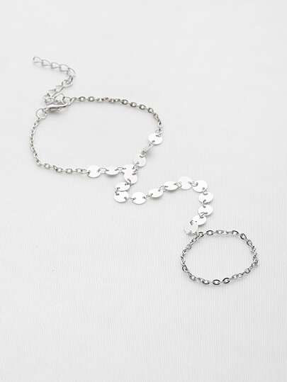 Connecting Toe Ring Bracelet