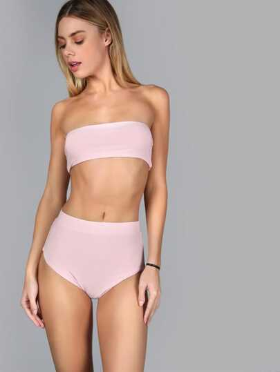 Bandeau Top Set BLUSH