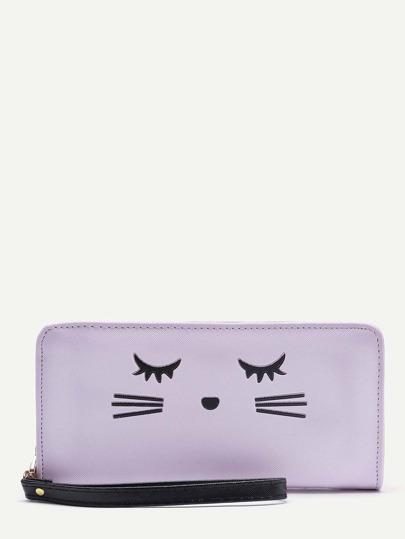 Clutch con diseño de cara de gato