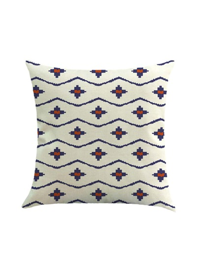Geometric Print Cushion Cover