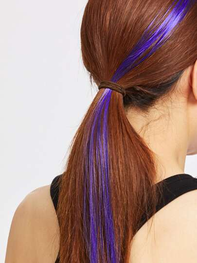 Purple Straight Hair Piece