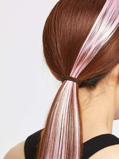 Pink Straight Hair Piece