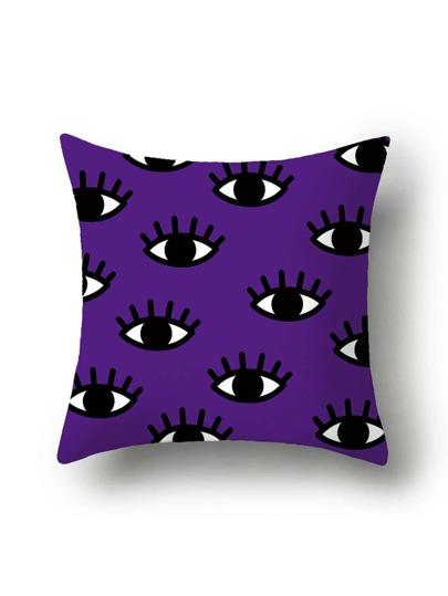 Copertura del cuscino con stampa di occhi