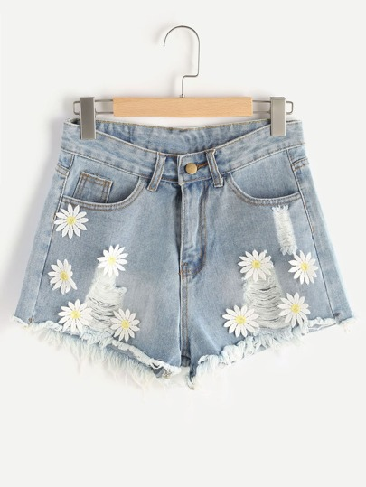 Shorts Anwendungen brechen in Denim