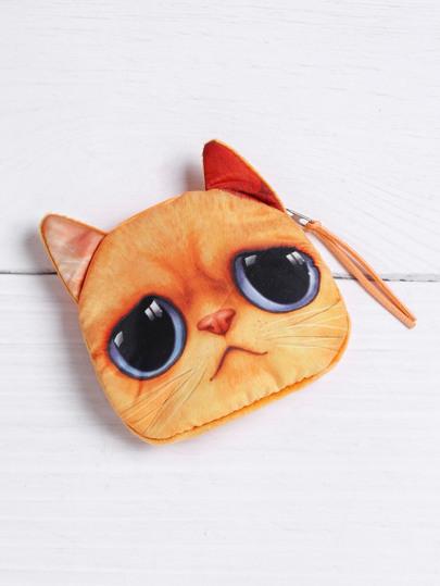 Porte-monnaie mignon à la forme du chat