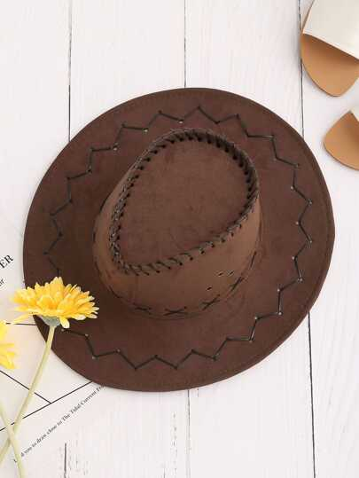 Criss Cross Detail Cowboy Hat