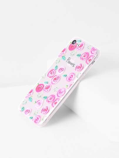 Calico Print Clear iPhone 7 Case