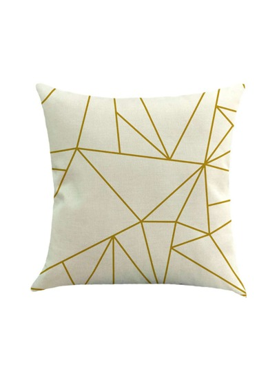 Geometric Print Linen Pillowcase Cover