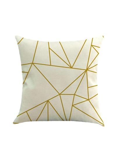 Housse d'oreiller en lin géométrique en toile