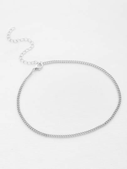 Simple Metal Chain Choker Necklace