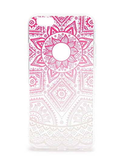 Ombre Tribal Pattern Clear iPhone 6 / 6s Fall