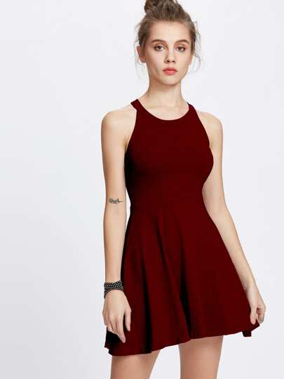 Halter Neck A Line Dress