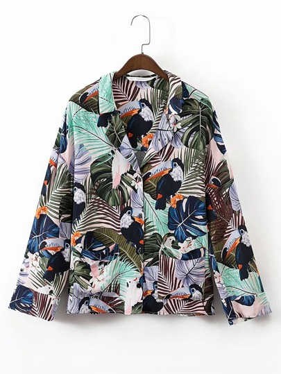 Blouse imprimée tropical
