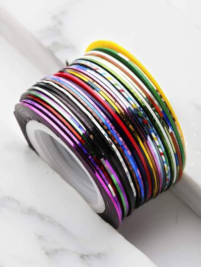 30 Color Metallic Manicure Wire Set