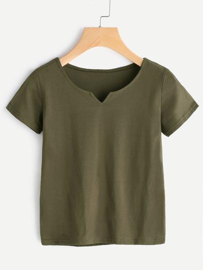 Camiseta de escote V