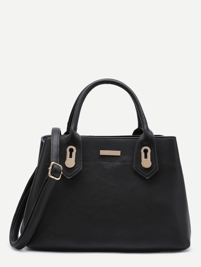 حقيبة الكتف تصميم المعدني  جلد صناعي