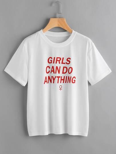 Tee-shirt imprimé du slogan