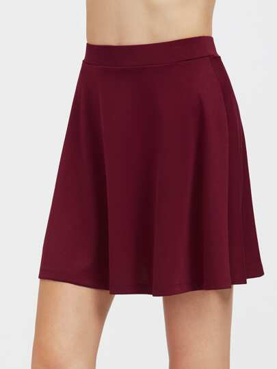 Elastic Band Waist Flowy Skirt