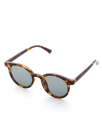 Plan de lentille des lunettes de soleil