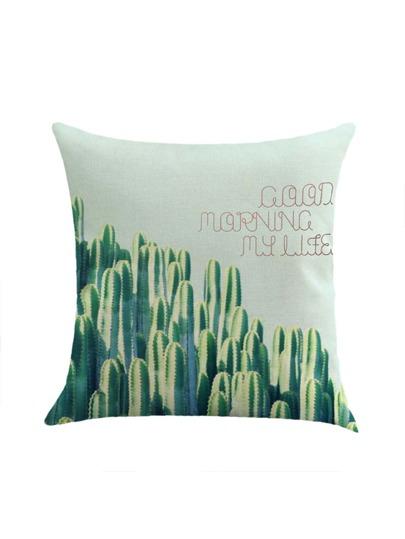 Funda de almohada con estampado de cactus