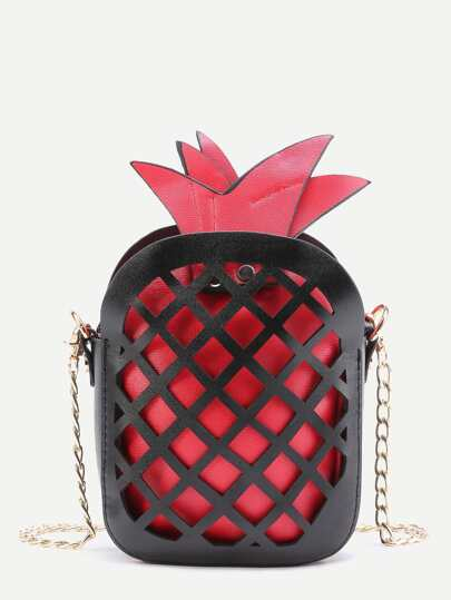 Pineapple Cage Hollow Out Crossbody Bag