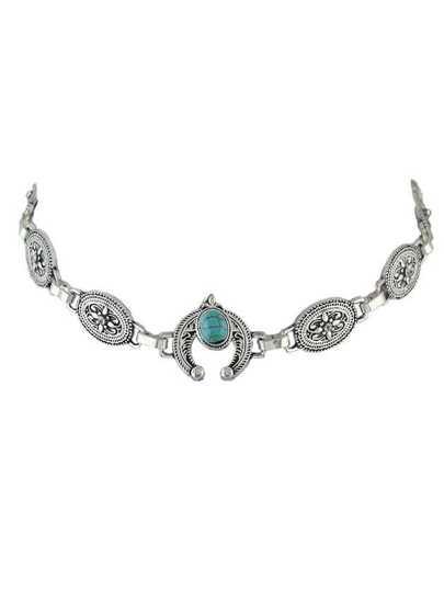 Collarino metallizzato - argento