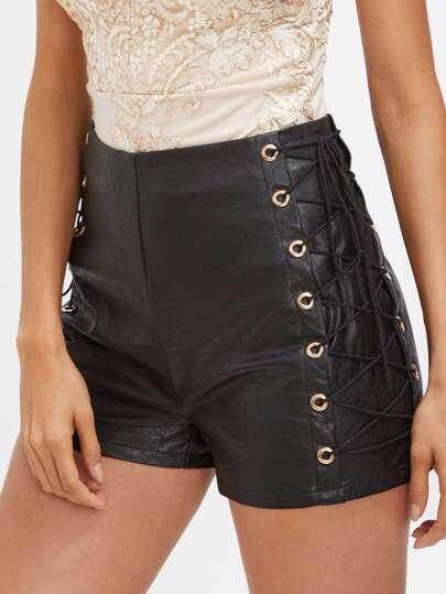 Shorts mit hoher Taille und Band