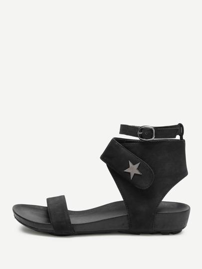 Sandalias con detalle de estrella