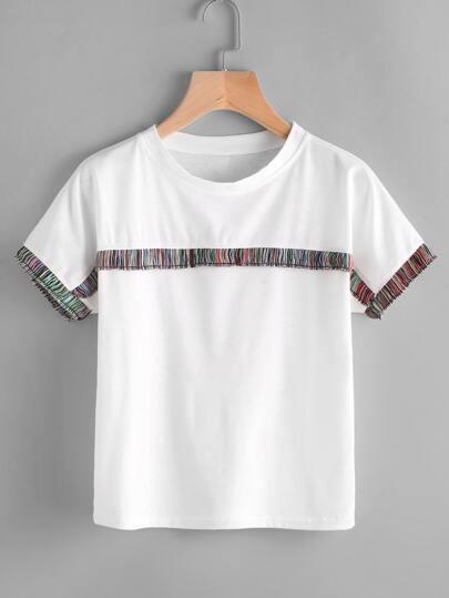 Camiseta con diseño de espiga