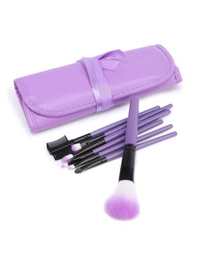 Ensemble de brosse à maquillage avec sac en PU
