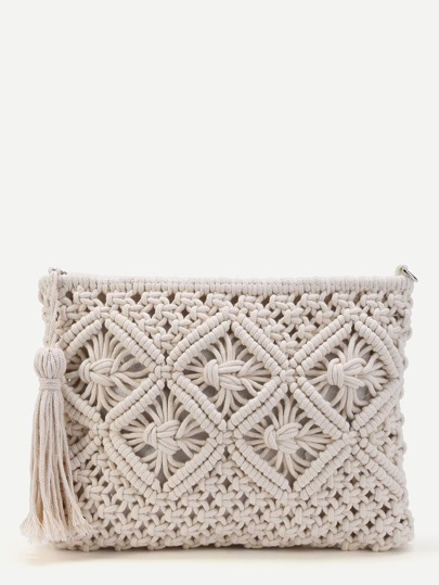 Crochet Clutch Bag Avec Tassel