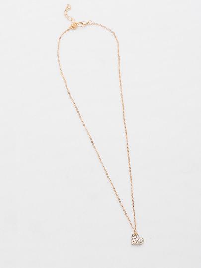 Collier pendentif en forme du coeur