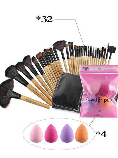 Sets de brocha y puff de maquillaje 32 piezas