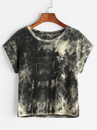 Camiseta colorada enjuage