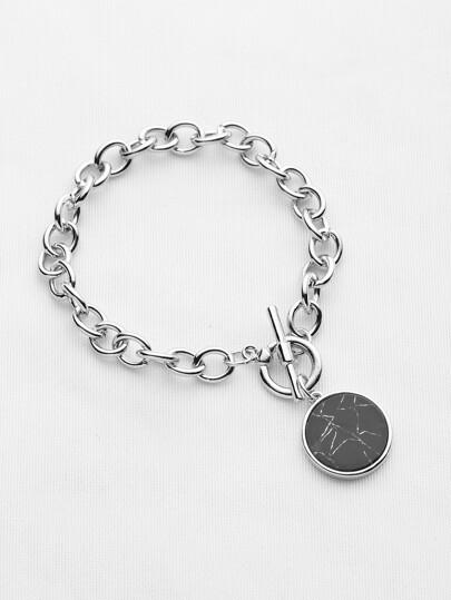 Round Charm Link Bracelet