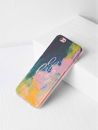 Aquarell und Buchstabe-Druck iPhone 6 / 6s Kasten