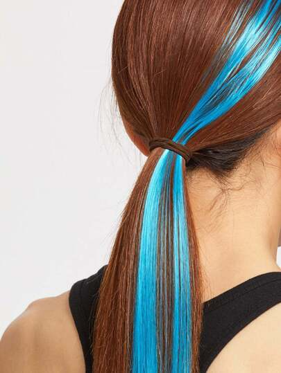 Turquoise Straight Hair Piece