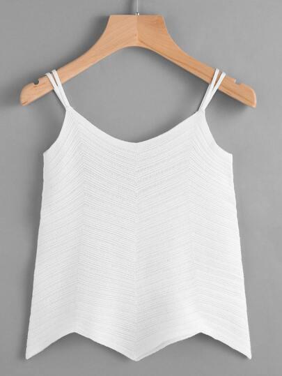 Asymmetrical Hem Knit Cami Top